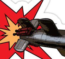 Rocket propelled pop art! Sticker