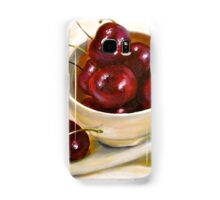 Still Life in Red and White...Cherries.. Samsung Galaxy Case/Skin
