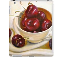 Still Life in Red and White...Cherries.. iPad Case/Skin