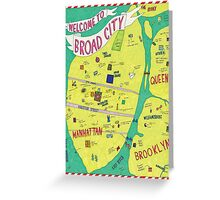 Broad City Map Greeting Card