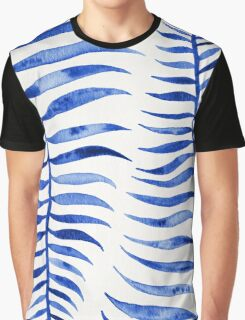 Navy Palm Leaf Graphic T-Shirt