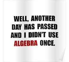 Algebra Once Poster