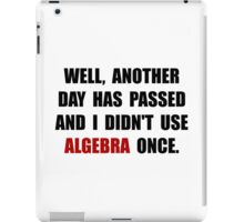 Algebra Once iPad Case/Skin