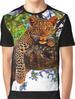 Relaxed Leopard Graphic T-Shirt