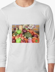 Vegetables and Fruits. Long Sleeve T-Shirt