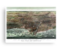 The city of Chicago-1892 Metal Print