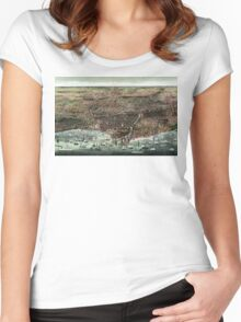 The city of Chicago-1892 Women's Fitted Scoop T-Shirt