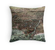 The city of Chicago-1892 Throw Pillow