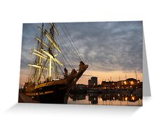 Belem. Cherbourg, Normandy, France. Greeting Card