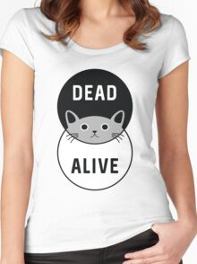 Schrodinger's Cat: Dead or Alive! Women's Fitted Scoop T-Shirt