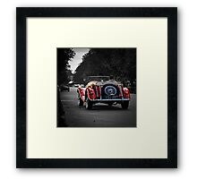 Vintage red soft top Framed Print