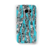 geo feathers turquoise blue Samsung Galaxy Case/Skin