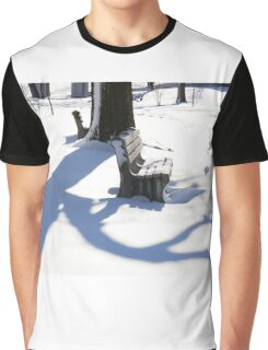 The winter picture of park - Horizontal. Graphic T-Shirt