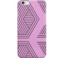 Halftone Pattern Purple iPhone Case/Skin
