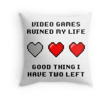 Video Game Life Throw Pillow