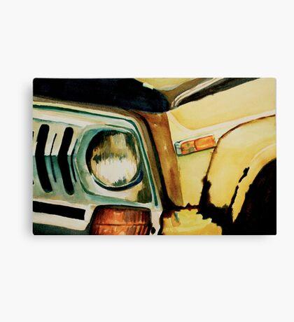 Car Headlight Canvas Print