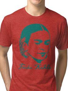 Frida Kahlo w/ Real Signature Digitized Tri-blend T-Shirt