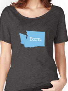 Washington Born WA Blue Women's Relaxed Fit T-Shirt