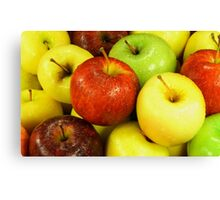 Assorted Apples. Canvas Print
