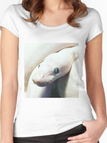 BEL BALL PYTHON Women's Fitted Scoop T-Shirt
