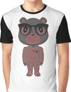 Rose-neon Heartbreak bear Graphic T-Shirt