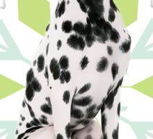 Dalmatian in a Santa Hat Holiday Dog Sticker