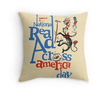 Real Read Cross America Seuss Throw Pillow