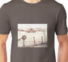 Barn in Field Unisex T-Shirt