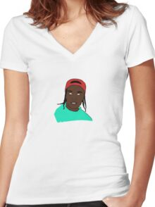Asap Rocky ''Pretty Flacko'' Women's Fitted V-Neck T-Shirt