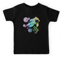 Boombox Space Man Rainbow Color Kids Tee