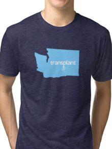 Washington Transplant WA Blue Tri-blend T-Shirt