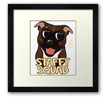 STAFFY SQUAD (brindle) Framed Print