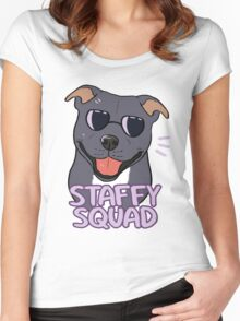 STAFFY SQUAD (blue) Women's Fitted Scoop T-Shirt