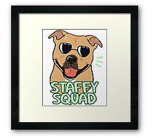 STAFFY SQUAD (red) Framed Print