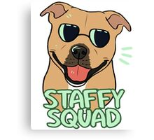STAFFY SQUAD (red) Canvas Print