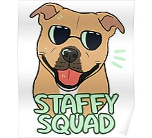 STAFFY SQUAD (red) Poster