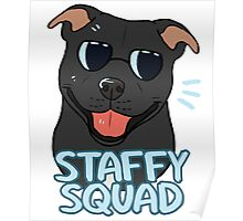 STAFFY SQUAD (black) Poster