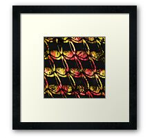 Army of misfits in red and yellow Framed Print