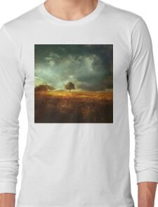 sunset landscape Long Sleeve T-Shirt