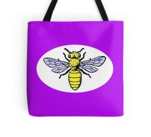 Honey Bee with white background Tote Bag