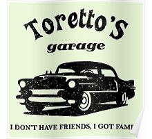Toretto's Garage Car Poster