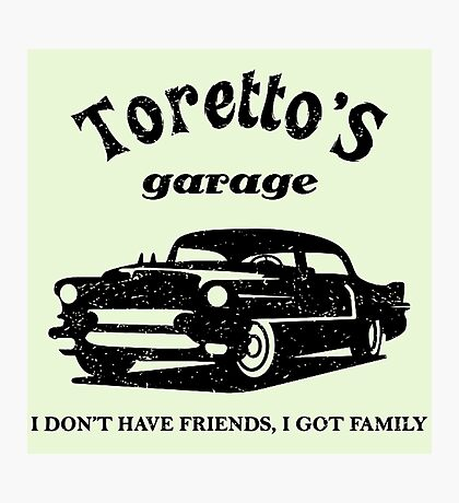 Toretto's Garage Car Photographic Print