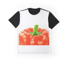 Red Pepper - close up.  Graphic T-Shirt