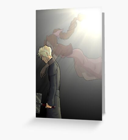 embrace of the angel Greeting Card