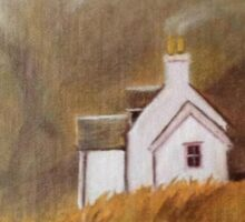 Scottish cottage Sticker