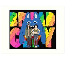Broad City Abbi Ilana and Bingo Bronson Art Print
