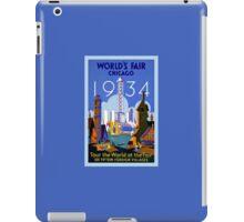 World's Fair Chicago 1934 advertising iPad Case/Skin