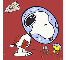 Snoopy Astronaut Photographic Print