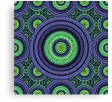 Back to 70's, blue & green Canvas Print