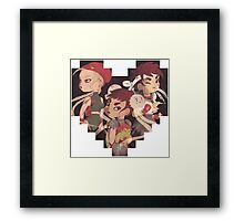 Street Fighter shirt: Cammy, Chun-Li, Sakura Framed Print